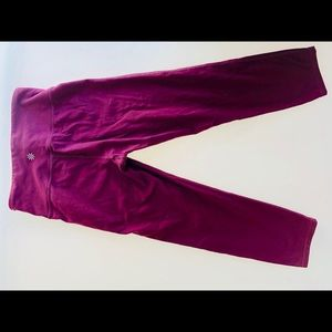 Athleta High Rise Chaturanga  Capri(wine)